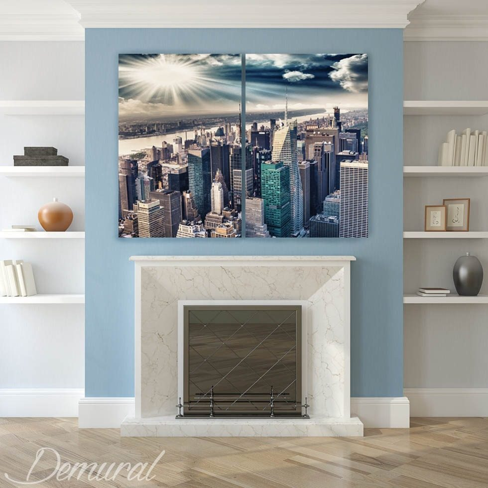Idyllic and big-city climate Canvas prints Cities Canvas prints Demural