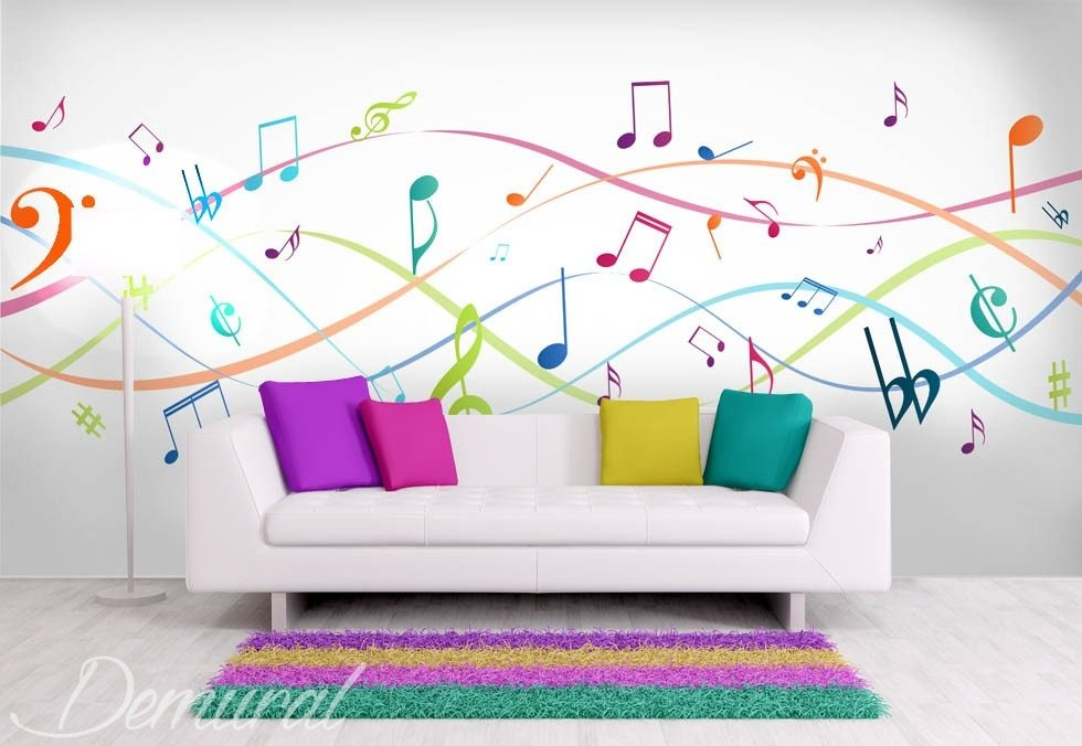 Music to your eyes Teenagers room wallpaper mural Photo