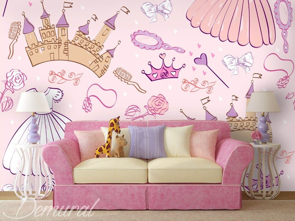 a princesss chamber childs room wallpaper mural photo wallpapers demural