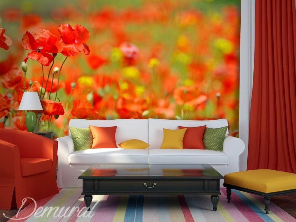 Tradition versus modernity Flowers wallpaper mural Photo wallpapers Demural