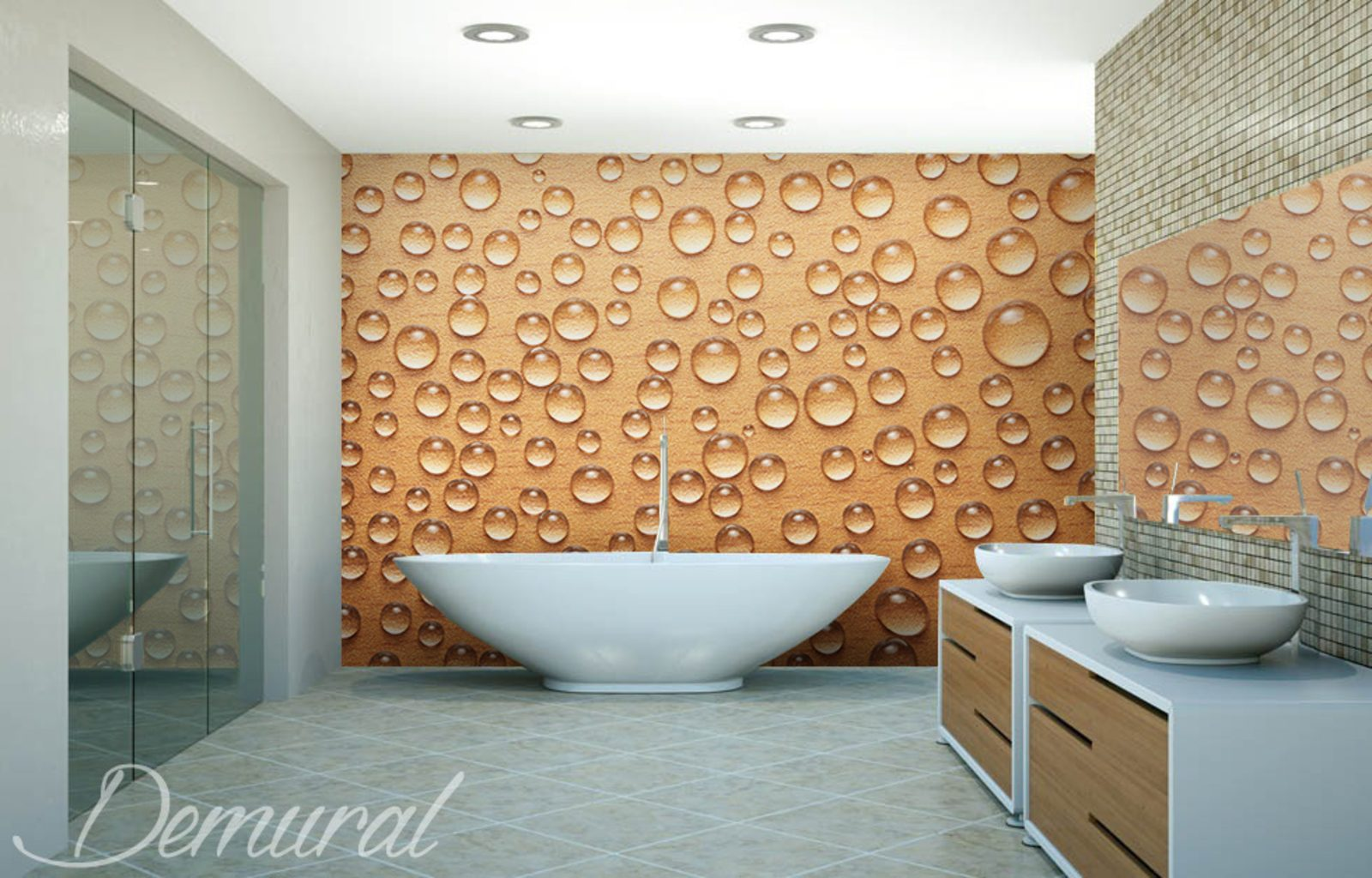 A foam bath bathroom wallpaper mural photo wallpapers for Bathroom wall mural