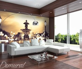 a private fountain architecture wallpaper mural photo wallpapers demural