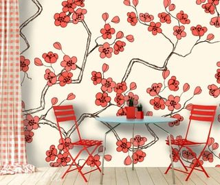 teatime in the garden cafe wallpaper mural photo wallpapers demural