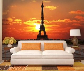 bonjour bonne nuit eiffel tower wallpaper mural photo wallpapers demural