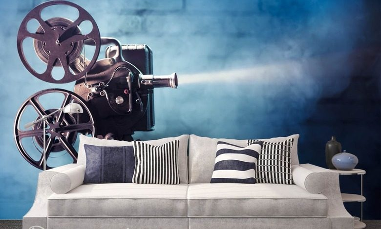 its time for a cinema living room wallpaper mural photo wallpapers demural