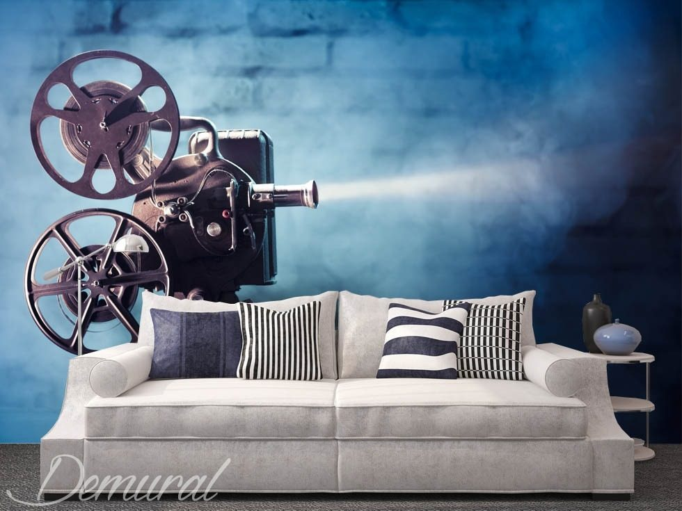 It's time for a cinema Living room wallpaper mural Photo wallpapers Demural