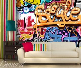 An Intergenerational Style Graffiti Wallpaper Mural Photo Wallpapers Demural Part 18