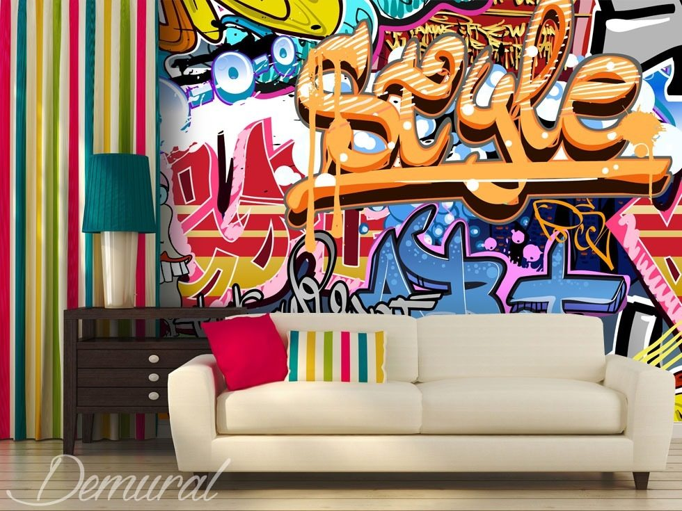 an intergenerational style graffiti wallpaper mural photo wallpapers demural