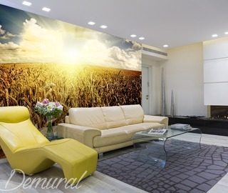 designer crops sunsets wallpaper mural photo wallpapers demural