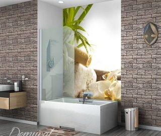 burning bad emotions bathroom wallpaper mural photo wallpapers demural