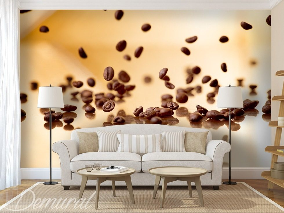 Postprandial coffee Coffee wallpaper mural Photo wallpapers Demural