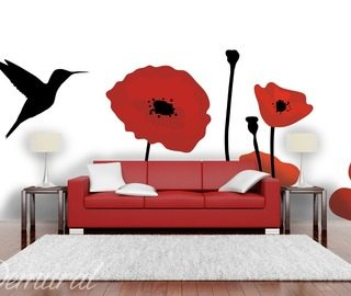 a floral lure poppies wallpaper mural photo wallpapers demural