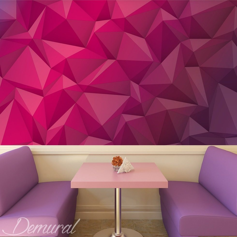 yummy origami cafe wallpaper mural photo wallpapers demural. Black Bedroom Furniture Sets. Home Design Ideas