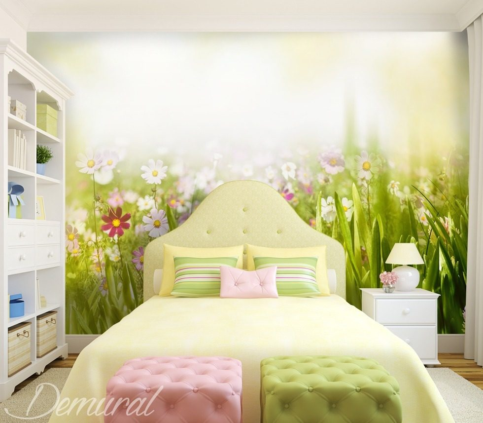 Joyful spring - Child\'s room wallpaper mural - Photo wallpapers ...