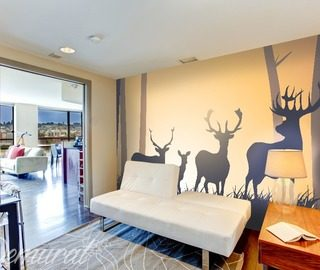 deers territory animals wallpaper mural photo wallpapers demural