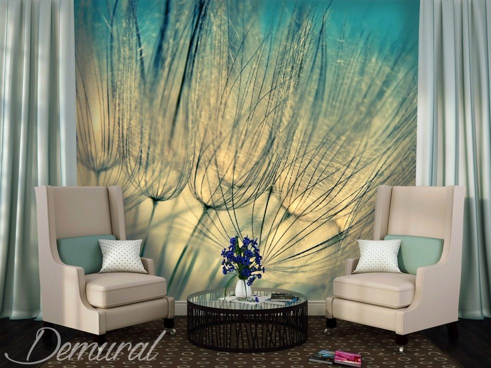 Women's afternoon Dandelions wallpaper mural Photo wallpapers Demural