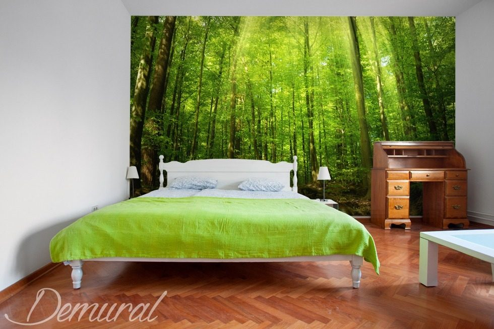 waking up glade bedroom wallpaper mural photo wallpapers demural