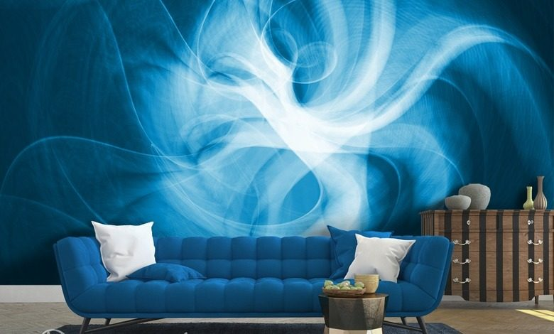 blue energy abstraction wallpaper mural photo wallpapers demural