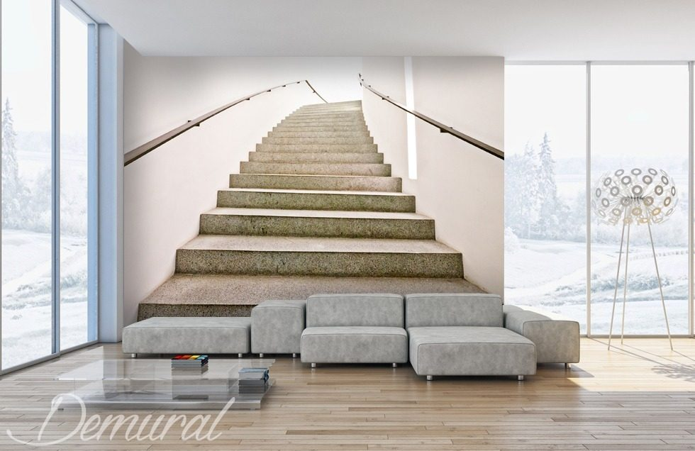 Decorative Mezzanining Staircase Wallpaper Mural Photo Wallpapers Demural