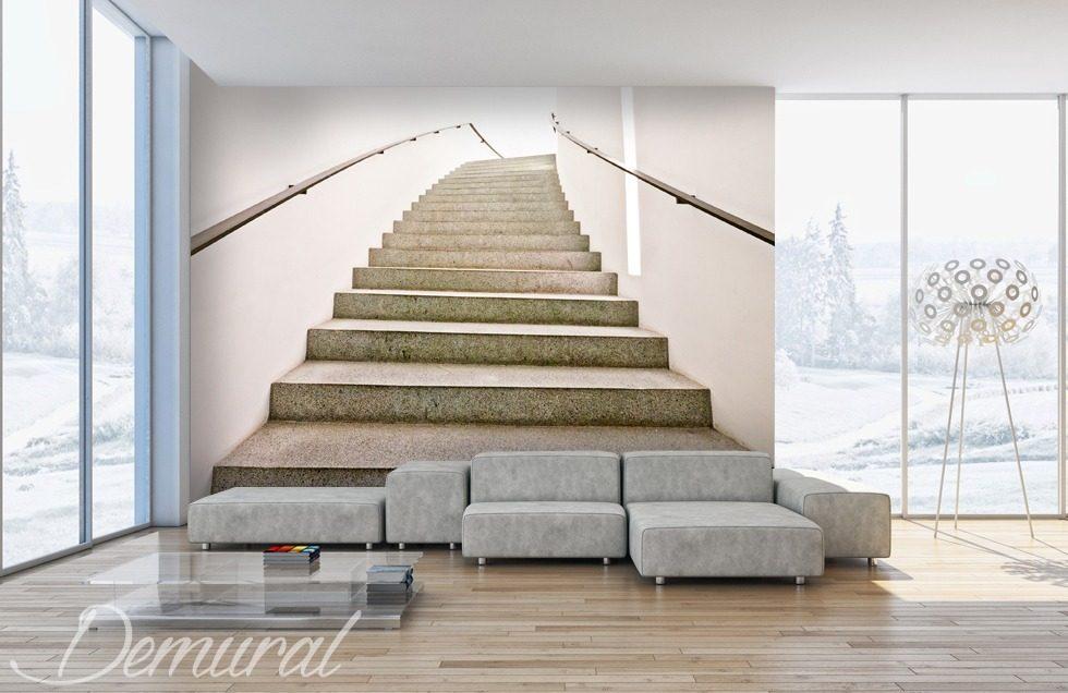 Decorative Mezzanining Staircase Wallpaper Mural
