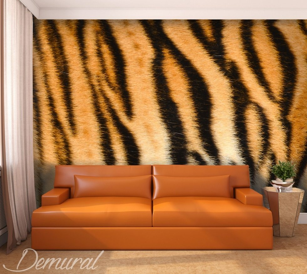 "Tiger ""s""print Patterns wallpaper mural Photo wallpapers Demural"