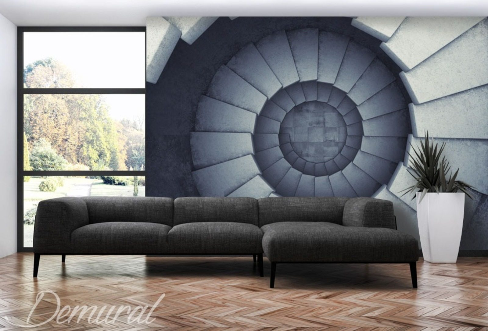 Spinning And Falling Staircase Wallpaper Mural Photo