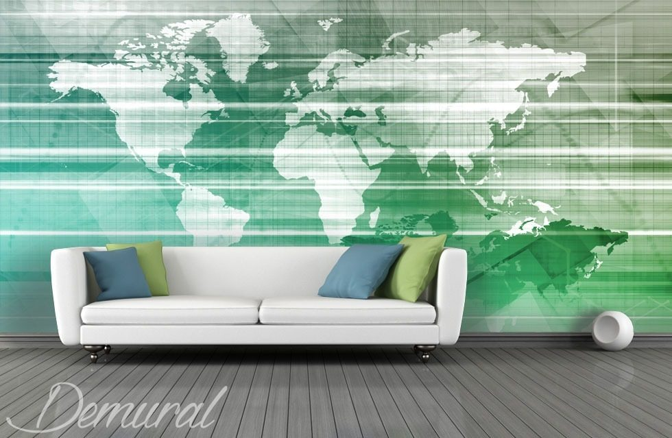 Geography on a wallpaper World Maps wallpaper mural Photo wallpapers Demural
