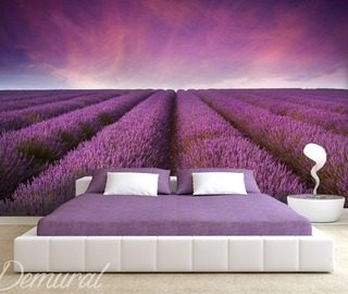 lavender fantasy provence wallpaper mural photo wallpapers demural