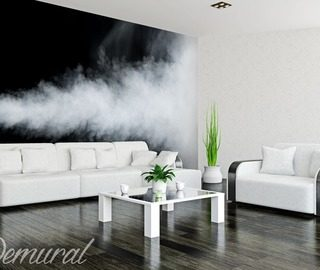 an elegant smoky room black and white wallpaper mural photo wallpapers demural