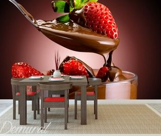 mural fondue cafe wallpaper mural photo wallpapers demural
