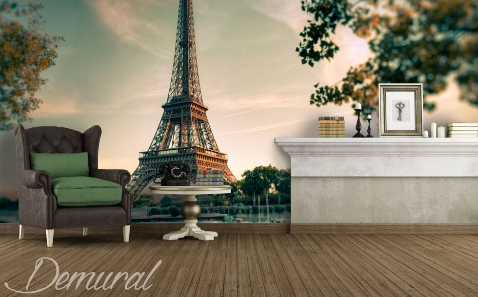 Under the eiffel tower eiffel tower wallpaper mural for Eiffel tower wall mural black and white