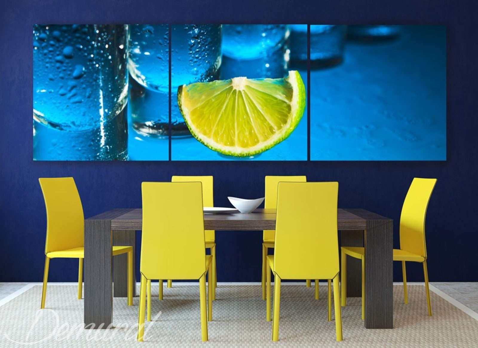 freshness of a lemon canvas prints in dining room