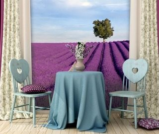 gentle lavender fields provence wallpaper mural photo wallpapers demural