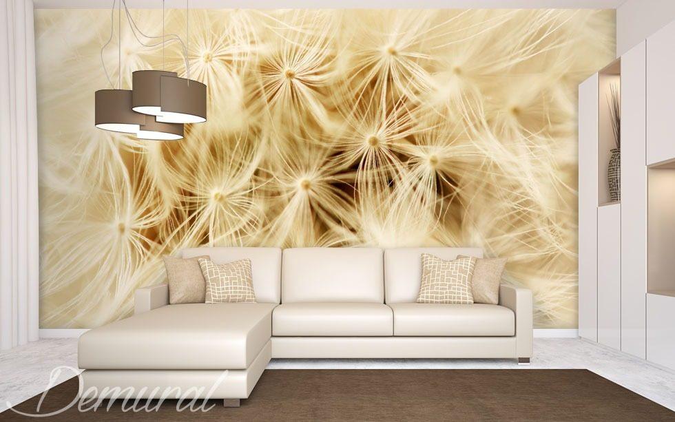A dandelion in a macro scale dandelions wallpaper mural for Dandelion mural