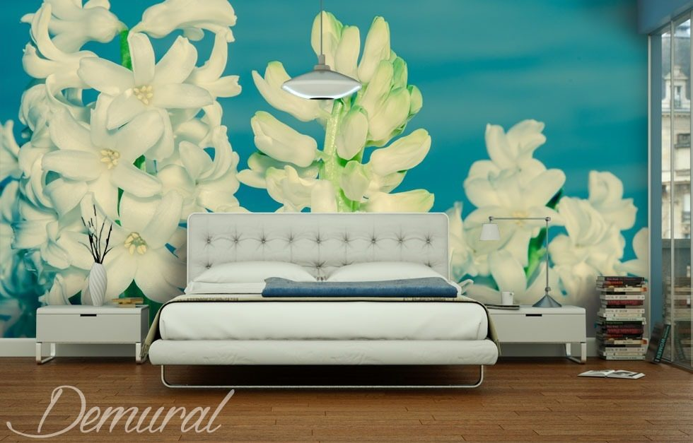 Close-up on flowers Bedroom wallpaper mural Photo wallpapers Demural