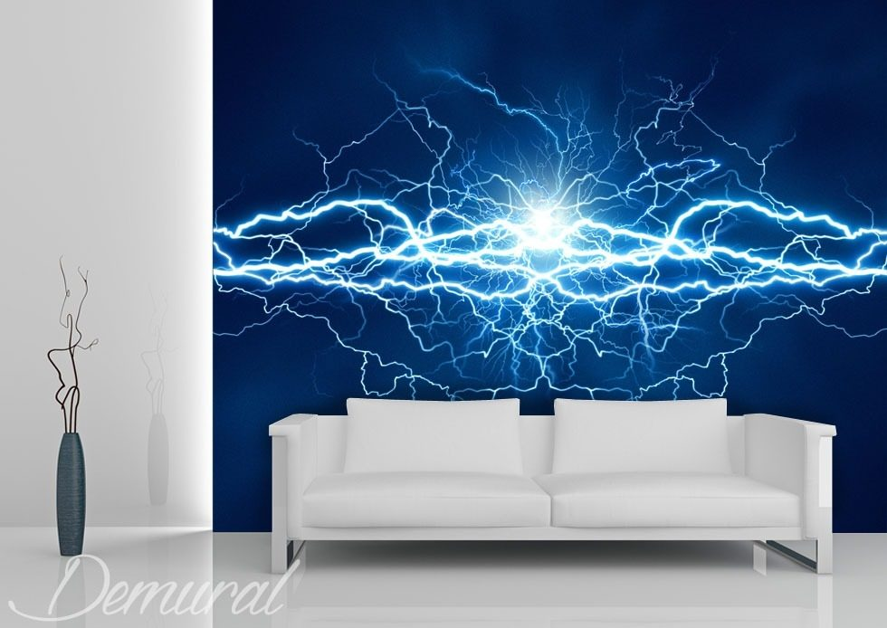 An electric storm Abstraction wallpaper mural Photo wallpapers Demural