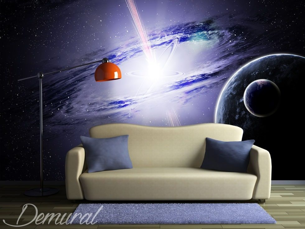 Galactic conspiracy Cosmos wallpaper mural Photo wallpapers Demural