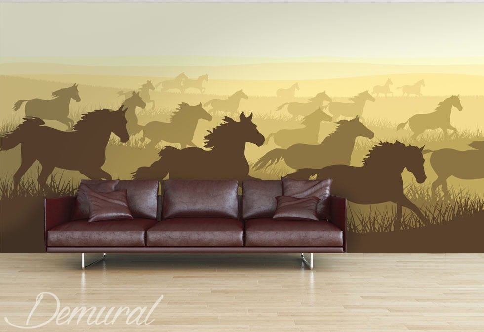 A herd of horses Animals wallpaper mural Photo wallpapers Demural