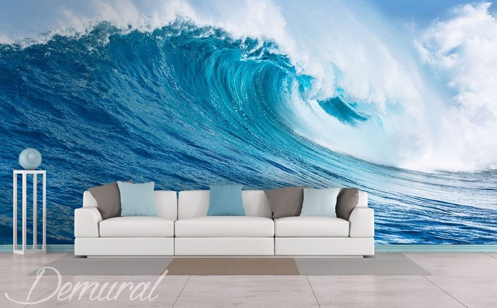 Sea wave Living room wallpaper mural Photo wallpapers Demural
