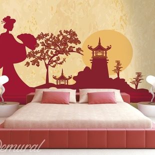 Happy pandas wall murals and photo wallpapers oriental for Asian wallpaper mural