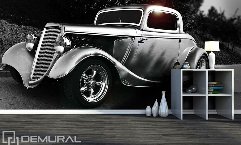 retro car wall murals photo wallpapers vehicles photo wallpapers demural