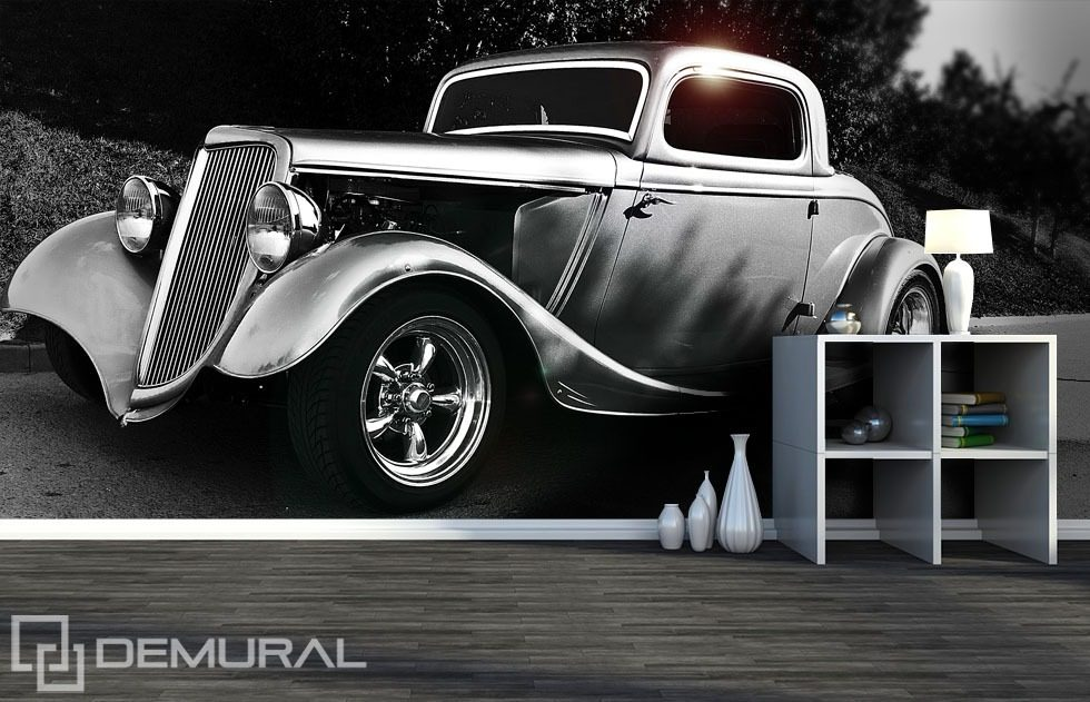 Retro car Wall Murals Photo Wallpapers Vehicles Photo wallpapers