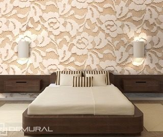 lacy roses bedroom wallpaper mural photo wallpapers demural