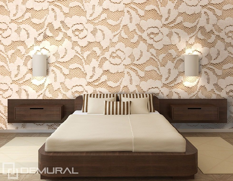 lacy roses bedroom wallpaper mural photo wallpapers