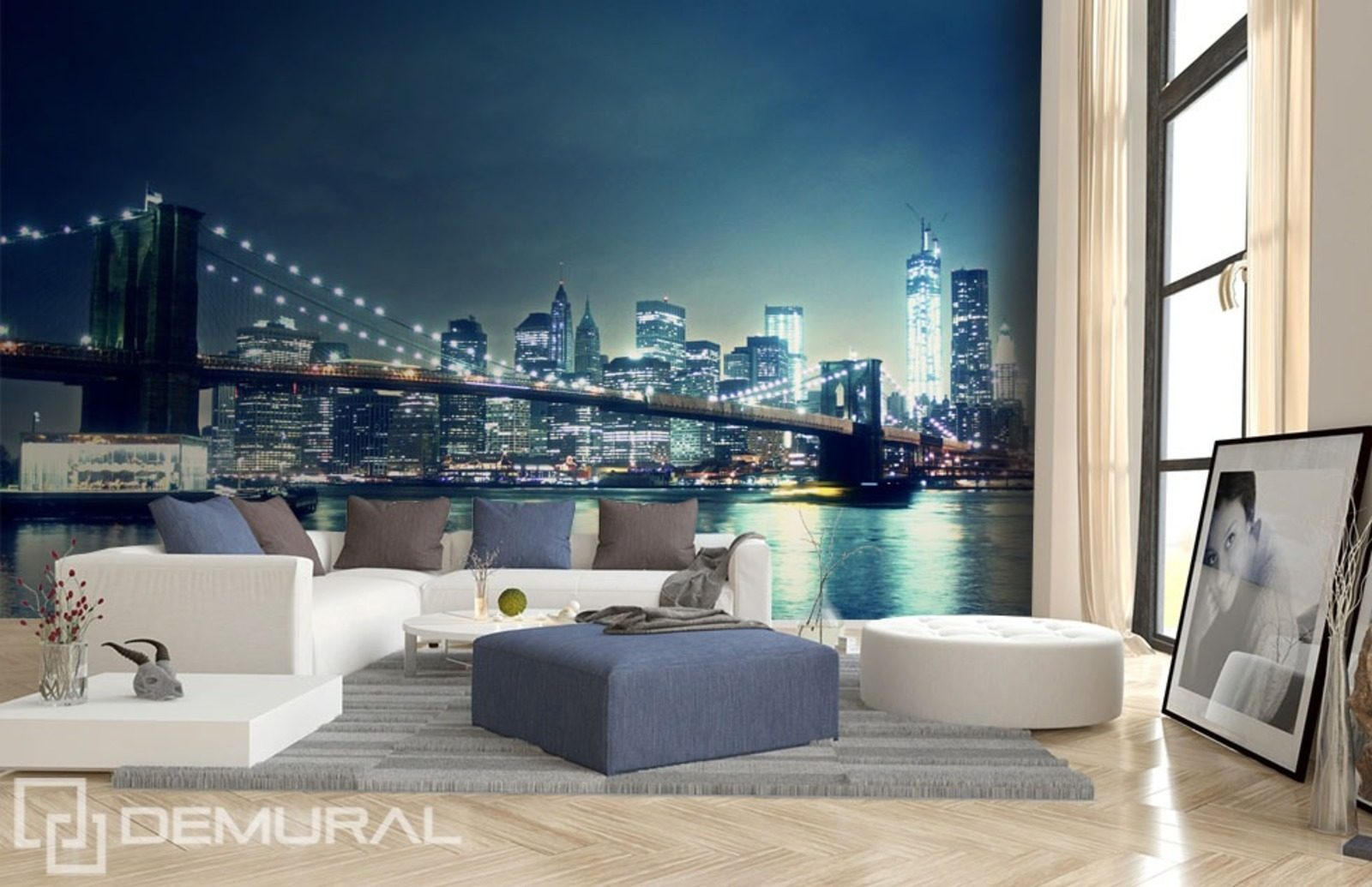 In the city light wall murals and photo wallpapers for City lights mural