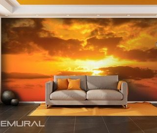 the sun behind the clouds sunsets wallpaper mural photo wallpapers demural