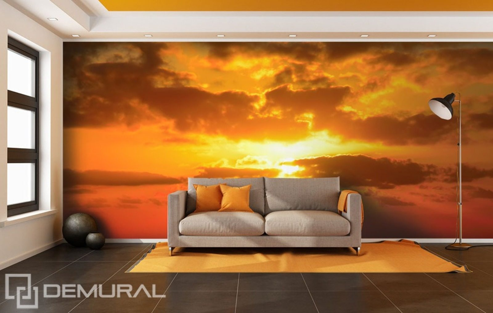 The sun behind the clouds wall murals and photo for Clouds wall mural