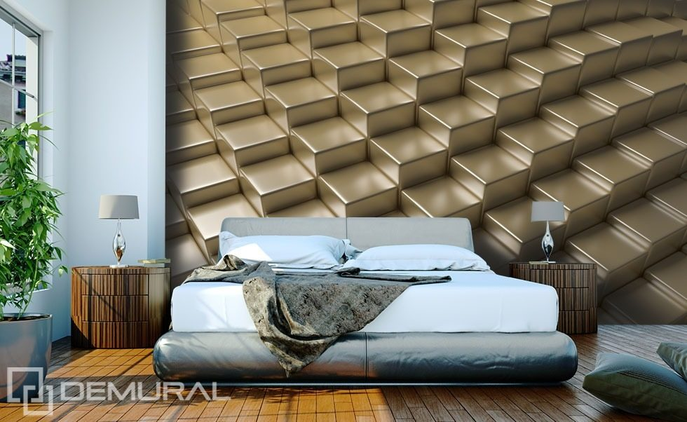 Golden platforms three dimensional wallpaper mural for 3d wallpaper for walls uk