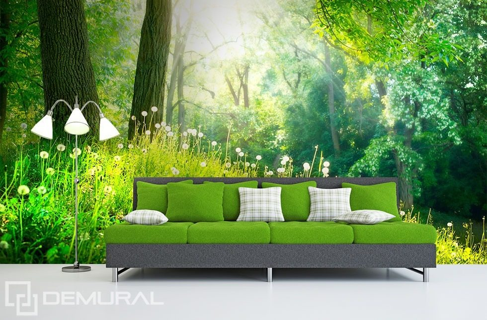 In Green Woods Forest Wallpaper Mural Photo Wallpapers
