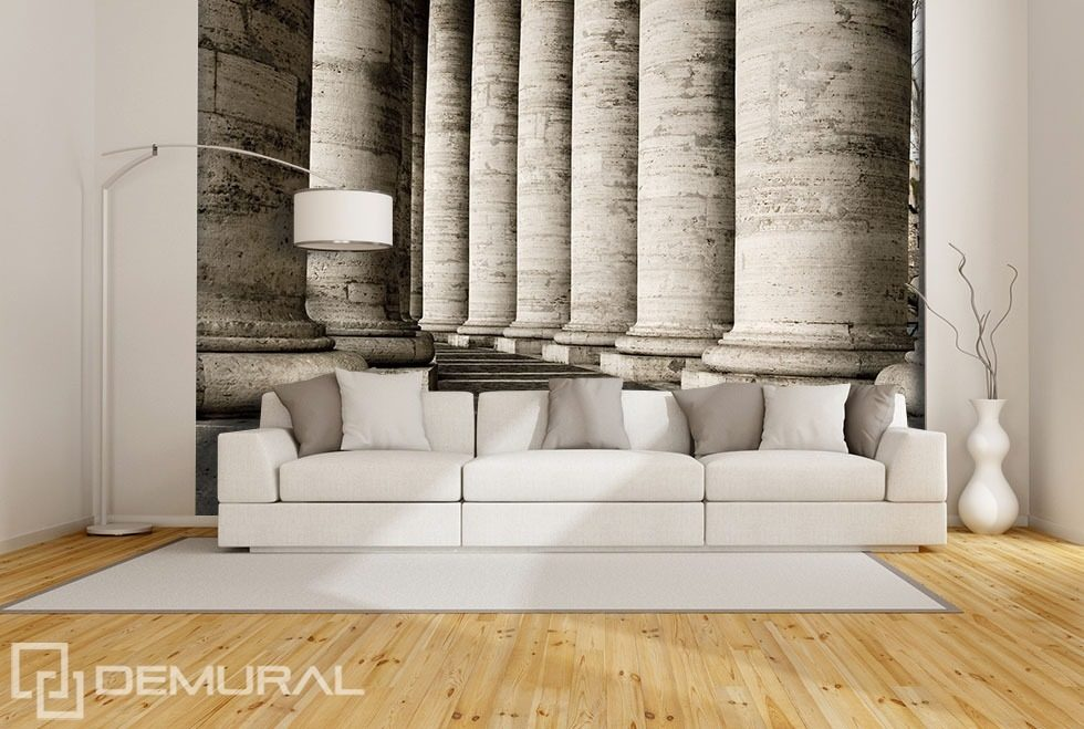 corridor of columns architecture wallpaper mural photo